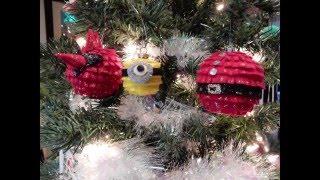 Handmade Christmas Ornaments Minion, Santa's belly, Cardinal