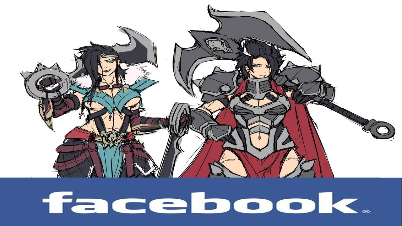 If league of legends Champions had Facebook #86 (Darius and Draven)