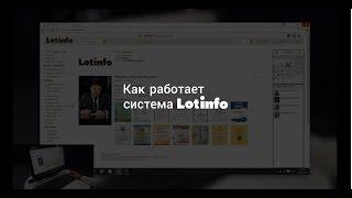 Как работает система Lotinfo