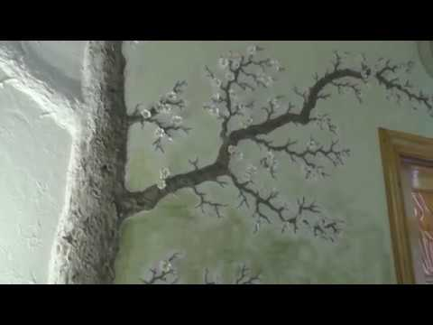 Лепнина дерево на стене своими руками