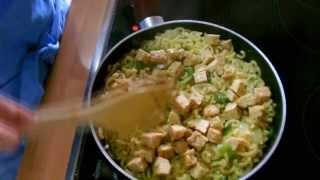 Fideua Con Tempeh - Receta - Cocinando Vegano