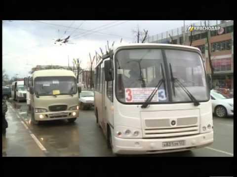 В Краснодаре водители 50-го автобусного маршрута  устроили акцию протеста