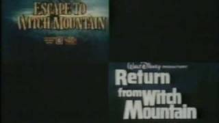 Escape to & Return from Witch Mountain 1978 TV trailer
