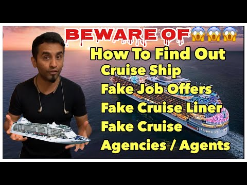 How To Find Out Cruise Ship Fake Agencies and Fake job offers...