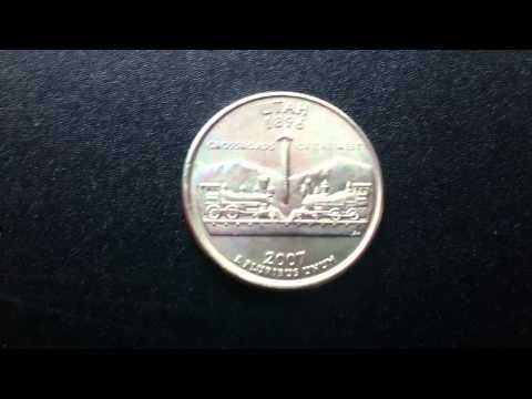 Coins : USA Utah Quarter 2007 P Coin