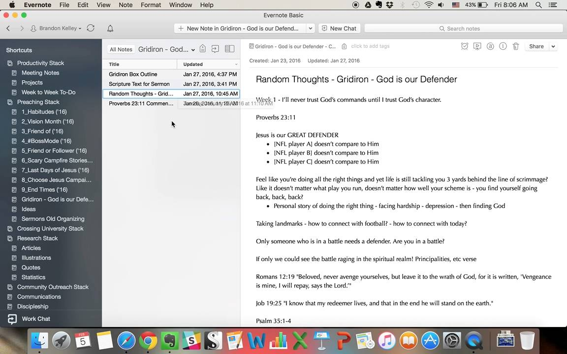 An Evernote Workflow for Sermon Preparation (@Rookie_Preacher)