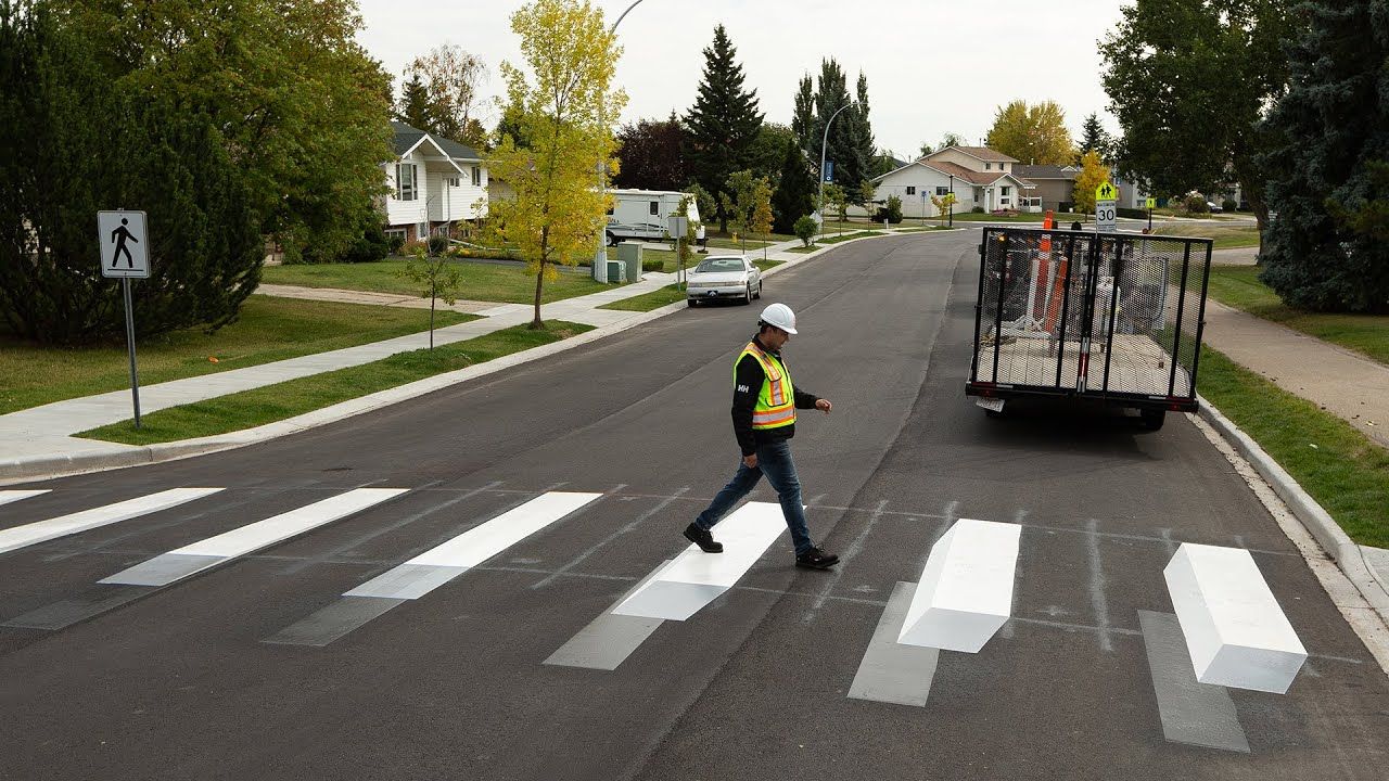 Beaumont installs 3D innovative crosswalk to enhance safety