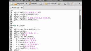 OpenGL (SDL,c++) tutorial 3 - basic transformations