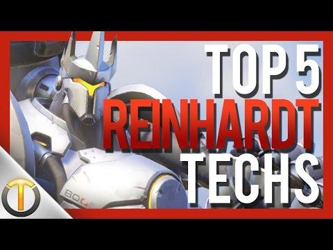 Top 5 REINHARDT TECHNIQUES - Overwatch