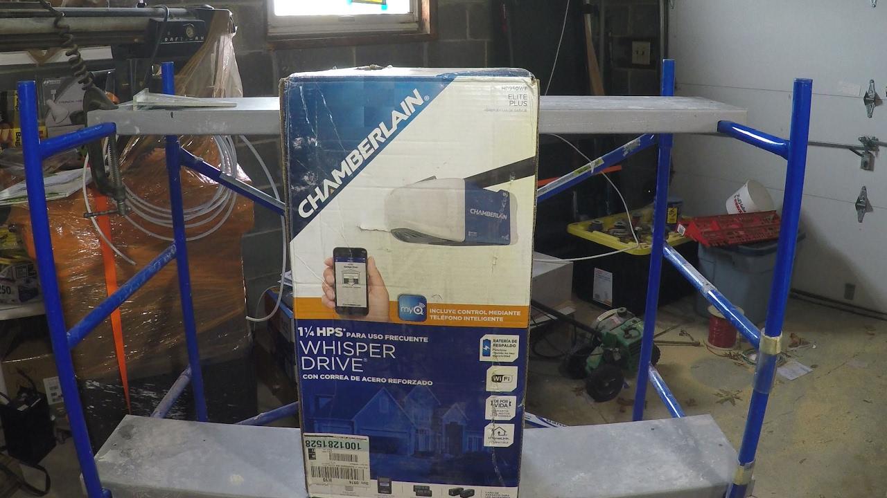 Chamberlain Whisper Garage Door Opener With Wifi Control Unboxing