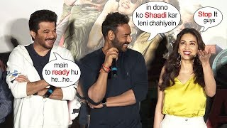 Ajay Devgn Openly Makes FUN Of Anil Kapoor & Madhuri Dixits LOVE Story Relationship