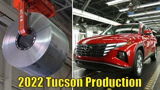 2022 Hyundai Tucson PRODUCTION LINE - The first production of Tucson in the US