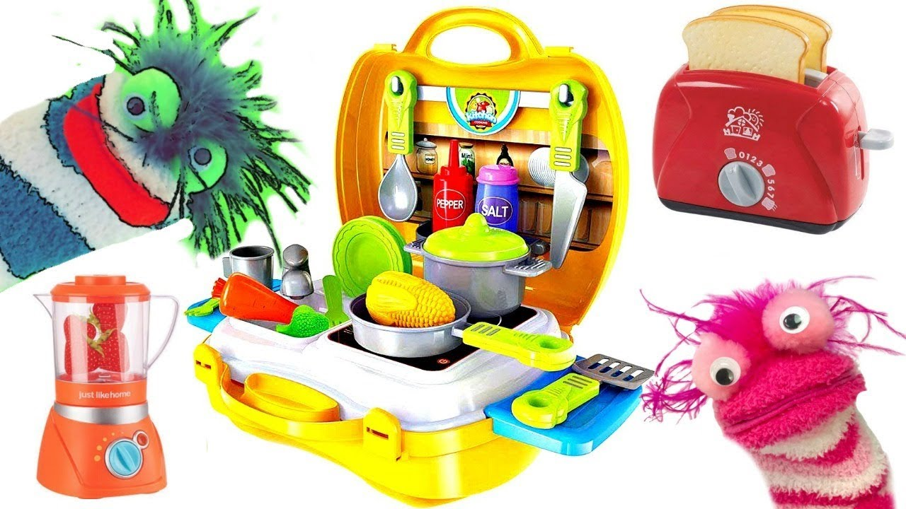 Fizzy Fun Toys: Learning Video For Kids Cooking With Fizzy Pretend Food