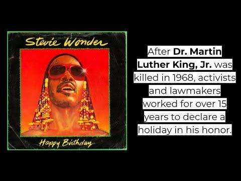 Stevie Wonder Happy Birthday With Lyrics Youtube