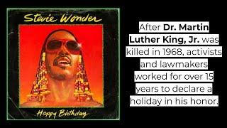 """Stevie Wonder """"Happy Birthday"""" with lyrics"""