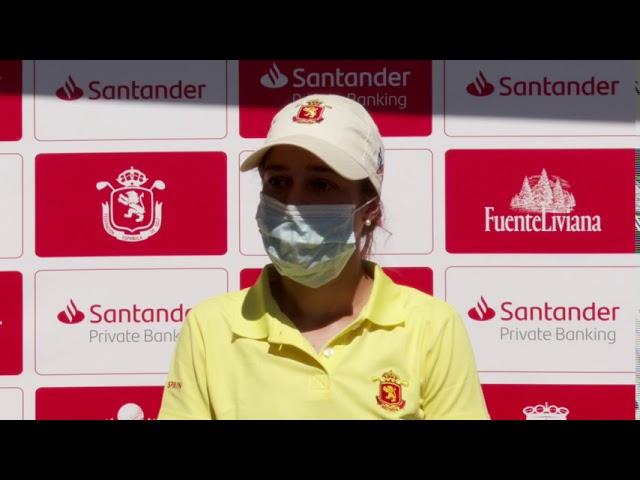 Entrevista a Teresa Toscano, tras la primera ronda del Santander Golf Tour Pedreña