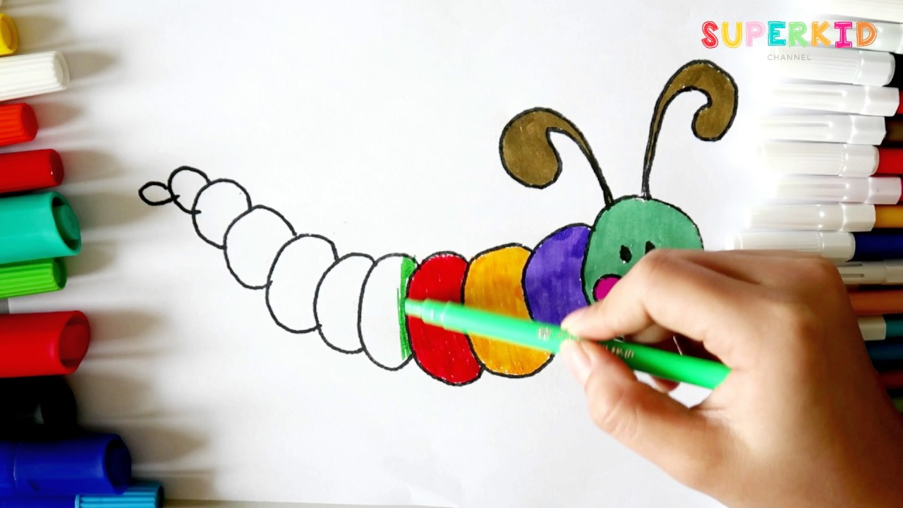 Worm Coloring Pages For Preschoolers