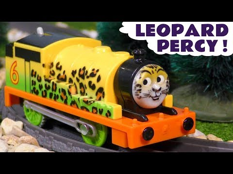 Thomas & Friends Big World Big Adventures Leopard Percy and Monkey Thomas Up Close with Animals