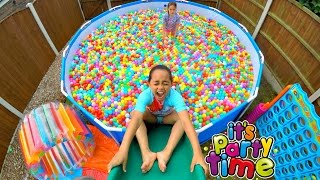 giant ball pit pool party outdoor playground fun giant water slide   toys andme