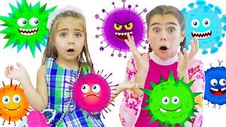 Мия Настя и Артем детские истории про вирусы
