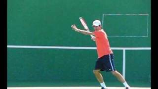 Roger Federer Forehands from the Front in Slow Motion