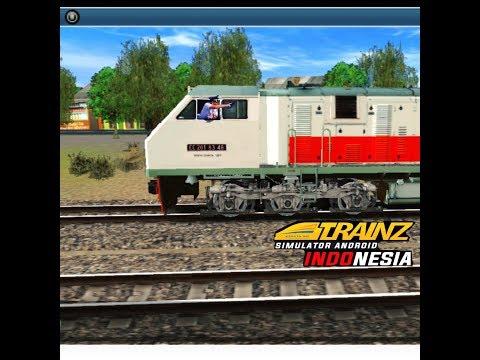 Bermain Game TRAINZ SIMULATOR ANDROID Skenario Kereta Api Bersilang
