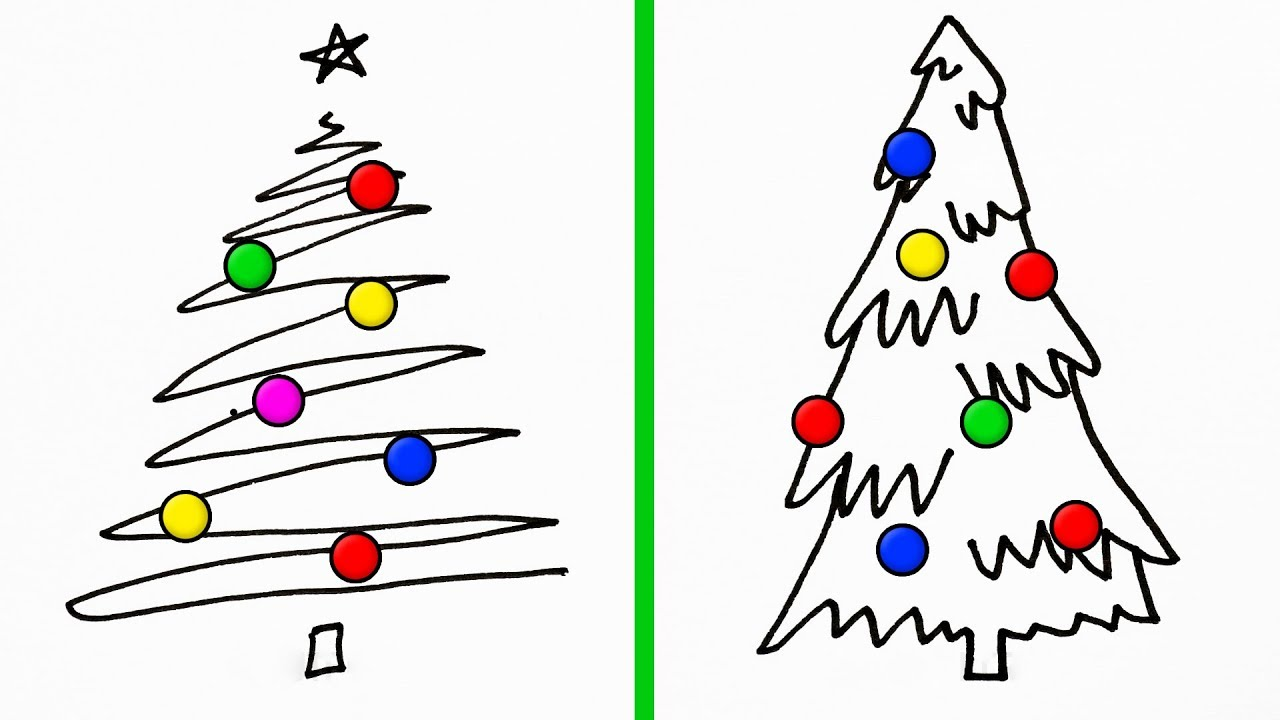 15 Simple Drawing Techniques For A Perfect Christmas Card Youtube