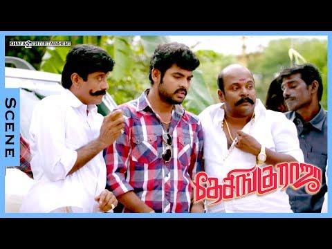Desingu Raja Tamil Movie   Scenes   Vimal Meet Bindu Madhavi At Temple & Interval Credit