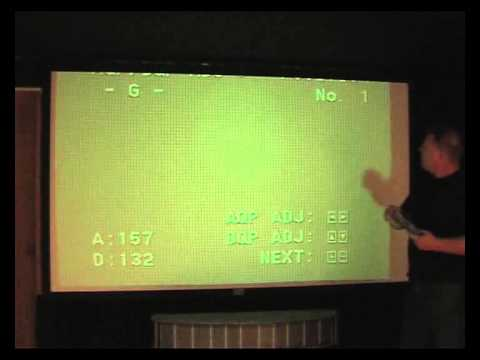 A to Z, Sony VPH 1292  CRT projector alignment