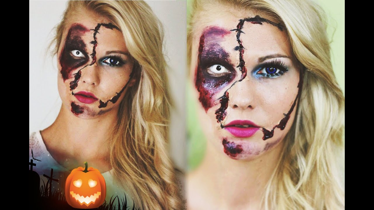 puppe vs d mon halloween make up tutorial youtube. Black Bedroom Furniture Sets. Home Design Ideas