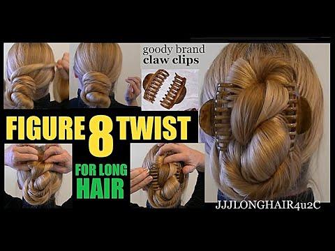 Jjjs Figure 8 Twist Bun For Very Long Straight Hair Plus Video