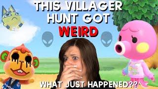 Something TERRIFYING happened on this villager hunt  Animal Crossing New Horizons