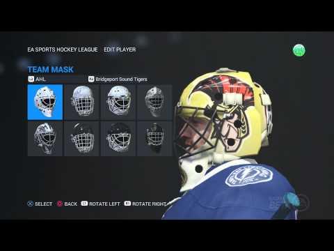 NHL 16: NEW GOALIE MASKS!!! (NHL/AHL Masks)