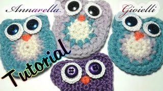 Tutorial Gufo all'Uncinetto | Crochet owl tutorial