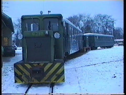 1995.12.30. Kisvasutazás a Balatonfenyvesi GV-n Táska - Csisztapuszta