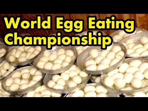120 Eggs Eaten in 8 Mins.. (World Egg Eating Championship)