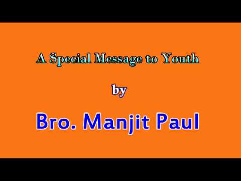 Powerful Youth Message by Bro  Manjith Paul - YouTube