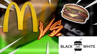 McDo SIGNATURE VS BLACK AND WHITE BURGER COMPARAISON