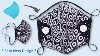 DIY Face Mask with Head Strap How to Make Face Mask Cloth Easy Pattern Face mask sewing tutorial