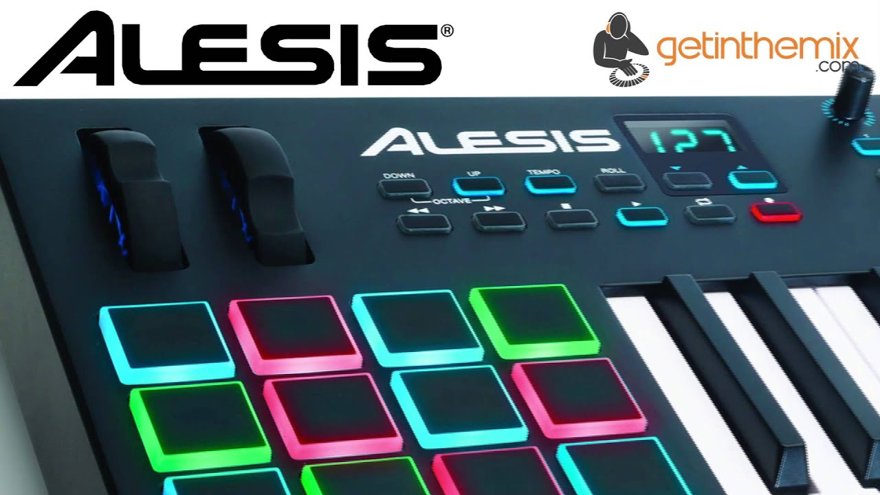 alesis vi25 usb controller keyboard with drum pad youtube. Black Bedroom Furniture Sets. Home Design Ideas