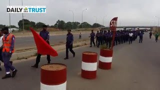 How Abuja based Nigerian Navy do their route march