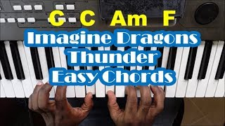 Baixar Imagine Dragons Thunder Easy Piano Chords Tutorial