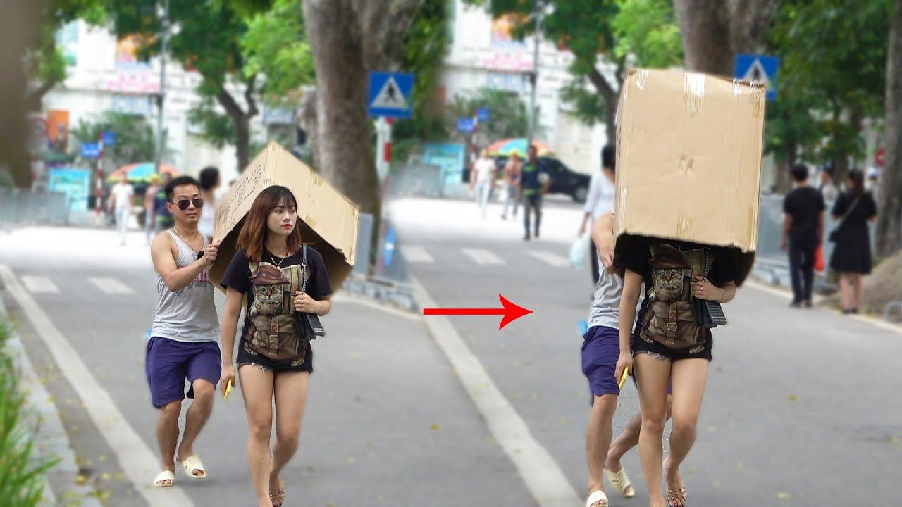 Thanh niên Gato ra phố giải ngố | Box Wrapping Prank