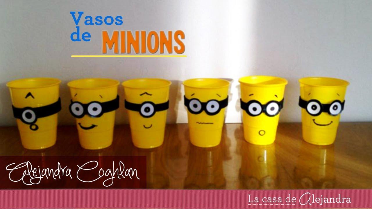 Vasos de minions diy minions party cups youtube - Decorar vasos plasticos para cumpleanos ...