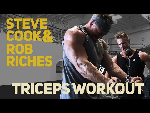 Steve Cook & Rob Riches Arm Workout | Triceps