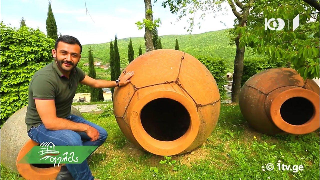 ფერმა სლოვენური ღვინო და ქართული ქვევრი შუაგულ ევროპაში