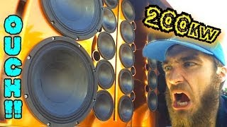 200,000 WATTS on MUSIC! | LOUDEST Mobile Audio Setup I've EVER HEARD | BEYMA Speakers DEMO VAN