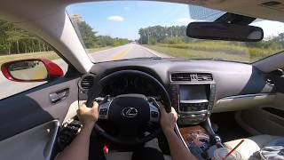 POV Drive 2012 Lexus IS250 AWD - Around town driving