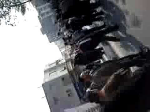 Protesters chant during Ahmadinejads speech - Iran Tehran near Azadi square 11 February 2010