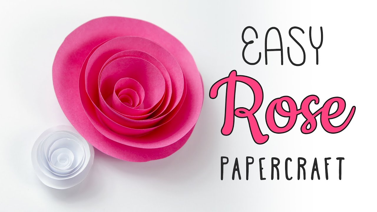 Easy Papercraft Rose Swirl Tutorial DIY Paper Kawaii
